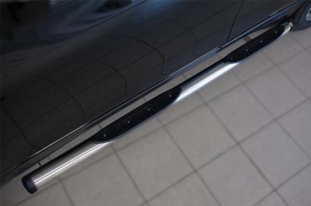 Nissan X-Trail 2015 Пороги труба d76 с накладкой (вариант 2) NXT-0020872